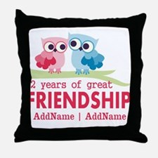 Gift For 2nd Anniversary Personalized Throw Pillow