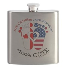 Canadian American Baby Flask