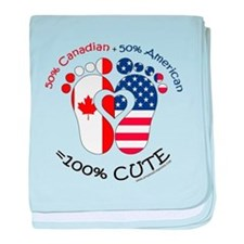 Canadian American Baby baby blanket