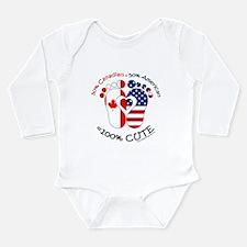 Canadian American Baby Long Sleeve Infant Bodysuit