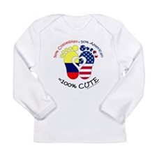 Colombian American Baby Long Sleeve Infant T-Shirt