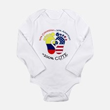 Colombian American Bab Long Sleeve Infant Bodysuit