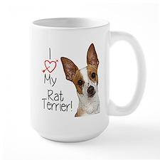 I Love My Rat Terrier (Large) Mugs