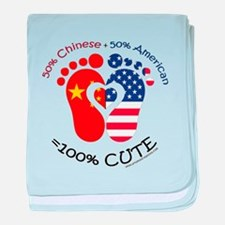 Chinese American Baby baby blanket