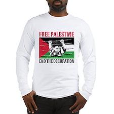 free palestine WHT Long Sleeve T-Shirt