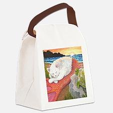 Unique Beach art mermaids Canvas Lunch Bag