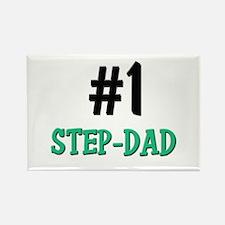 Number 1 STEP-DAD Rectangle Magnet