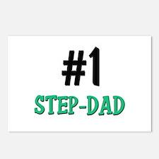 Number 1 STEP-DAD Postcards (Package of 8)