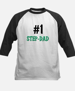 Number 1 STEP-DAD Kids Baseball Jersey