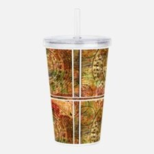 Cute Crop circles Acrylic Double-wall Tumbler