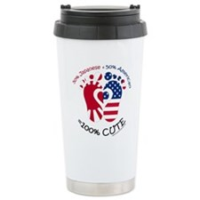 Japanese American Baby Travel Coffee Mug