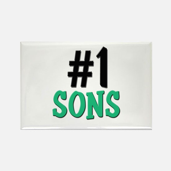 Number 1 SONS Rectangle Magnet