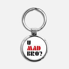 Geek Round Keychain