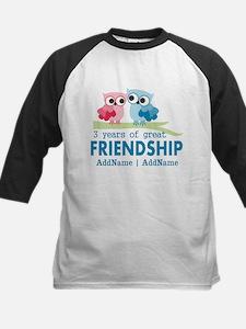 3rd Anniversary Gift Persona Kids Baseball Jersey