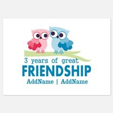 3rd Anniversary Gift Personalized 5x7 Flat Cards