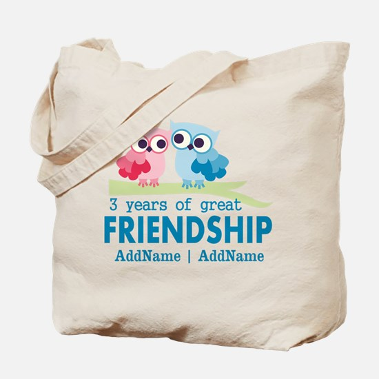 3rd Anniversary Gift Personalized Tote Bag