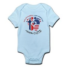Norwegian American Baby Body Suit