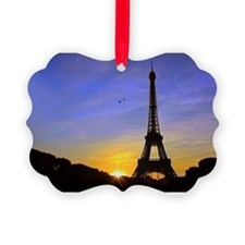 Eiffel Tower Sunset Ornament