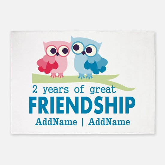 Gift For 2nd Anniversary Personaliz 5'x7'Area Rug