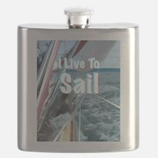 Live To Sail Flask