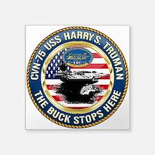 "CVN-75 USS Harry S. Truman Square Sticker 3"" x 3"""