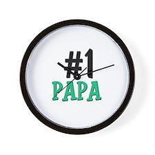Number 1 PAPA Wall Clock