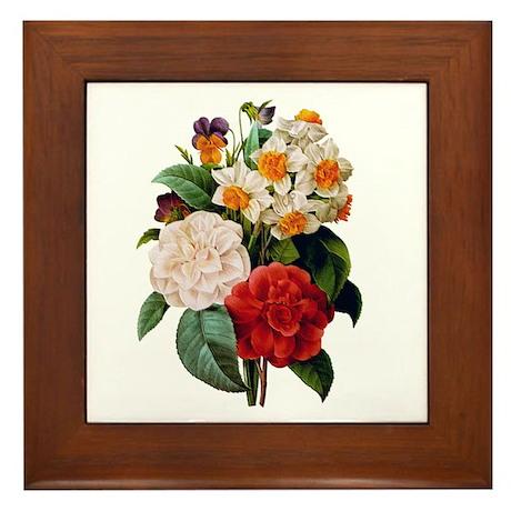 CAMELIA BOUQUET Framed Tile