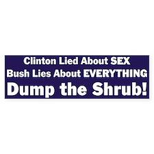 Dump the Shrub Bumper Bumper Sticker