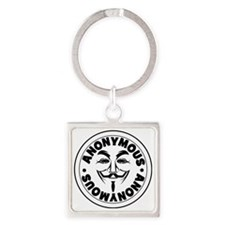Anonymous Square Keychain