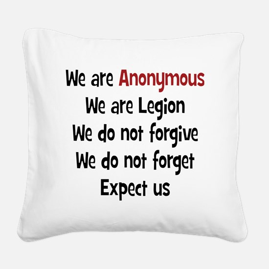 Anonymous Square Canvas Pillow