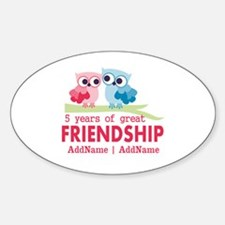 5 Years Anniversary Personalized Decal