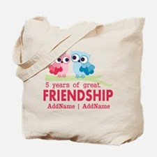 5 Years Anniversary Personalized Tote Bag