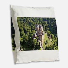 Unique Castles Burlap Throw Pillow