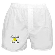Pickleball coach yellow padd Boxer Shorts