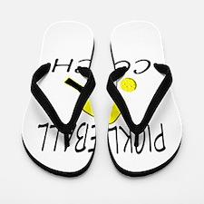 Pickleball coach yellow padd Flip Flops