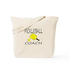 Pickleball coach yellow padd Tote Bag