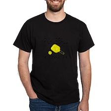 Pickleball coach yellow padd T-Shirt