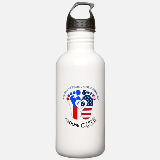 Puerto Rican American Baby Water Bottle