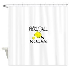 Pickleball Rules Shower Curtain