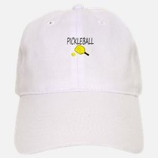 Pickleball with yellow paddle ball Baseball Baseball Baseball Cap