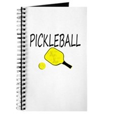 Pickleball with yellow paddle ball Journal