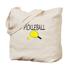 Pickleball with yellow paddle ball Tote Bag