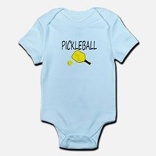 Pickleball with yellow paddle ball Body Suit
