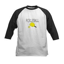 Pickleball with yellow paddle ball Baseball Jersey