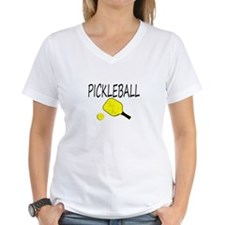 Pickleball with yellow paddle ball T-Shirt