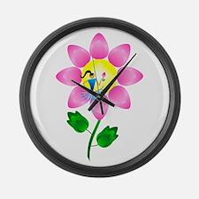 Petal Power Large Wall Clock