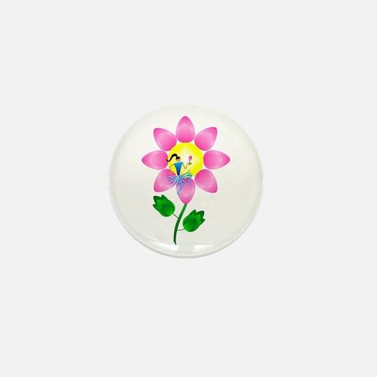 Petal Power Mini Button