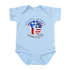 Puerto Rican American Baby Body Suit