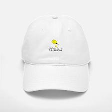 Pickleball slogan yellow ball paddle Baseball Baseball Baseball Cap