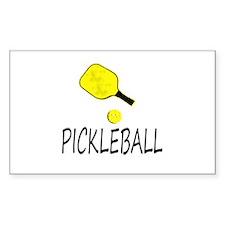 Pickleball slogan yellow ball paddle Decal